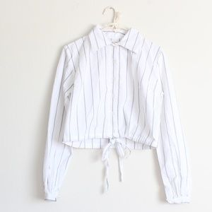 NWT Brandy Melville Lenny Top Striped Button Down